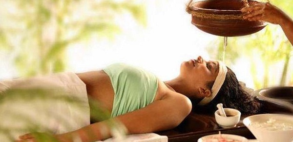 The Ayurvedic massage in the spa