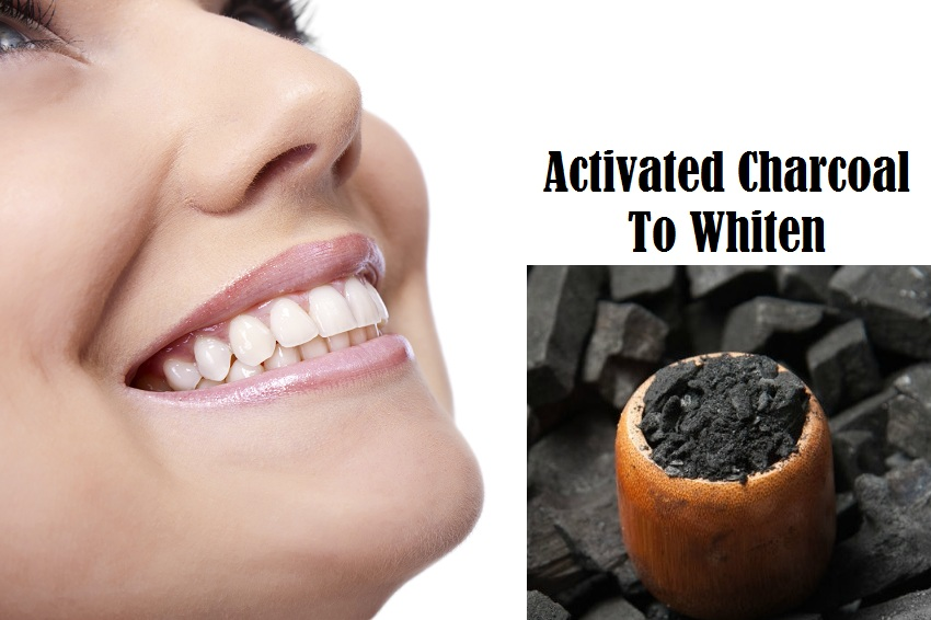 teeth with activated charcoal