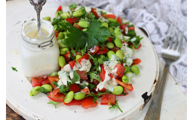 top salad with watermelon