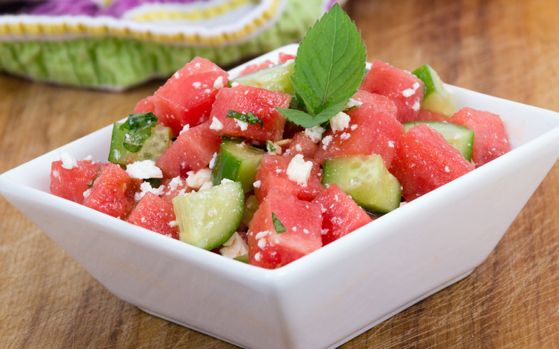 best salad with watermelon